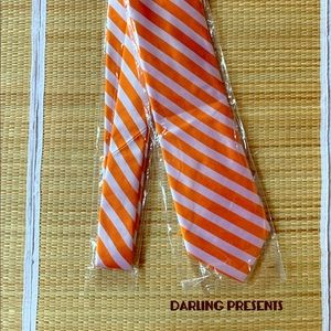'THE TIE BAR' ORANGE STRIPED TIE